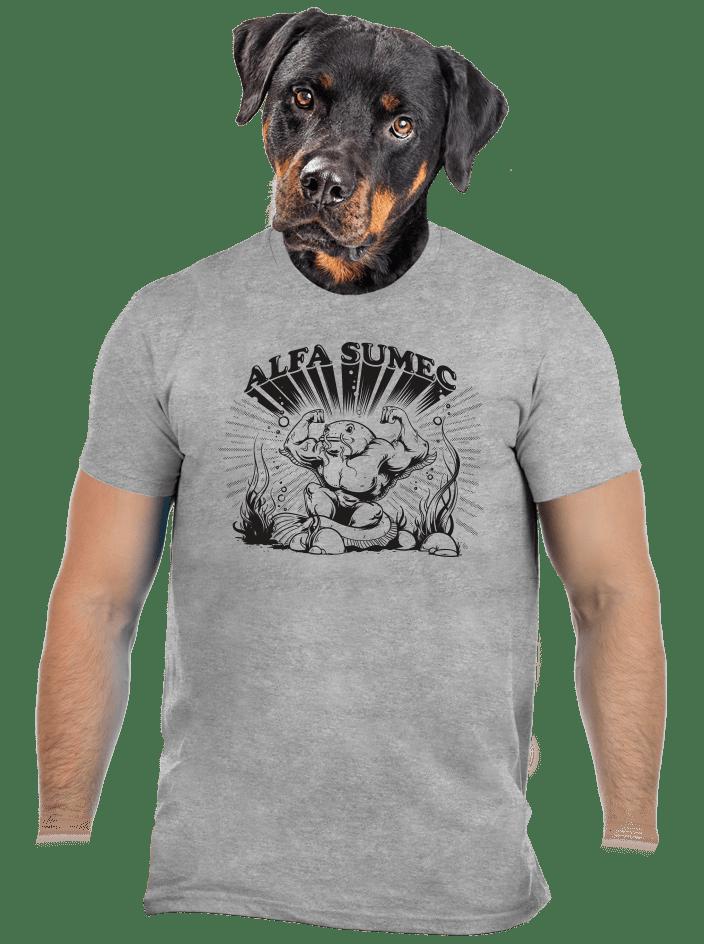 Alfasumec šedé pánské tričko