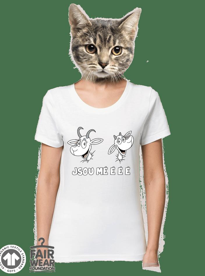 Kozy bílé dámské BIO tričko