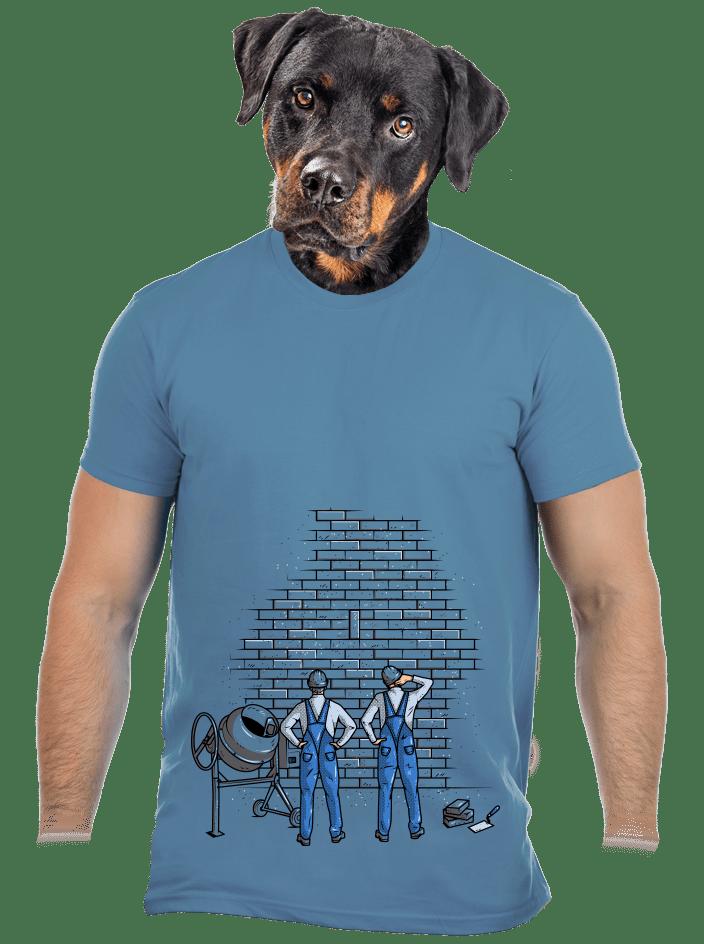Zedníci modré pánské tričko