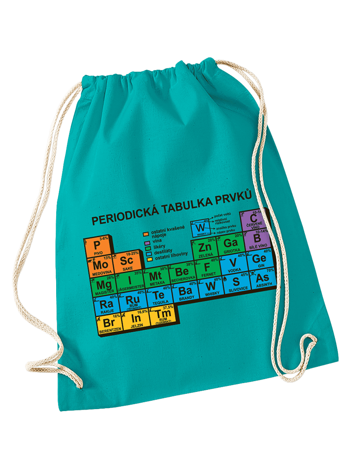 Periodická tabulka vak na záda