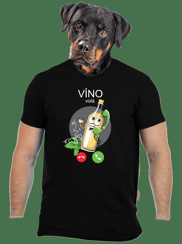 Bílé víno volá pánské tričko