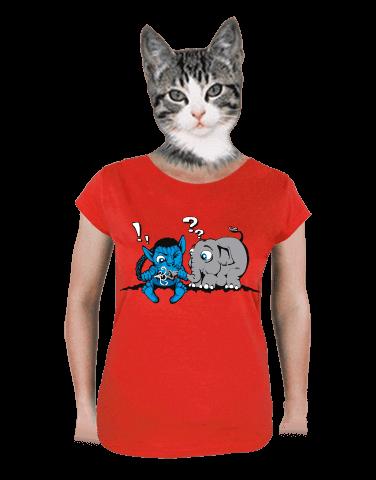 Error 501 červené dámské tričko