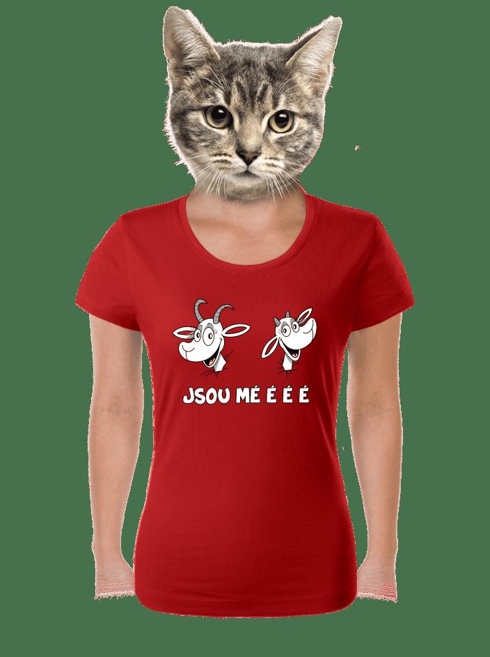 Kozy červené dámské tričko