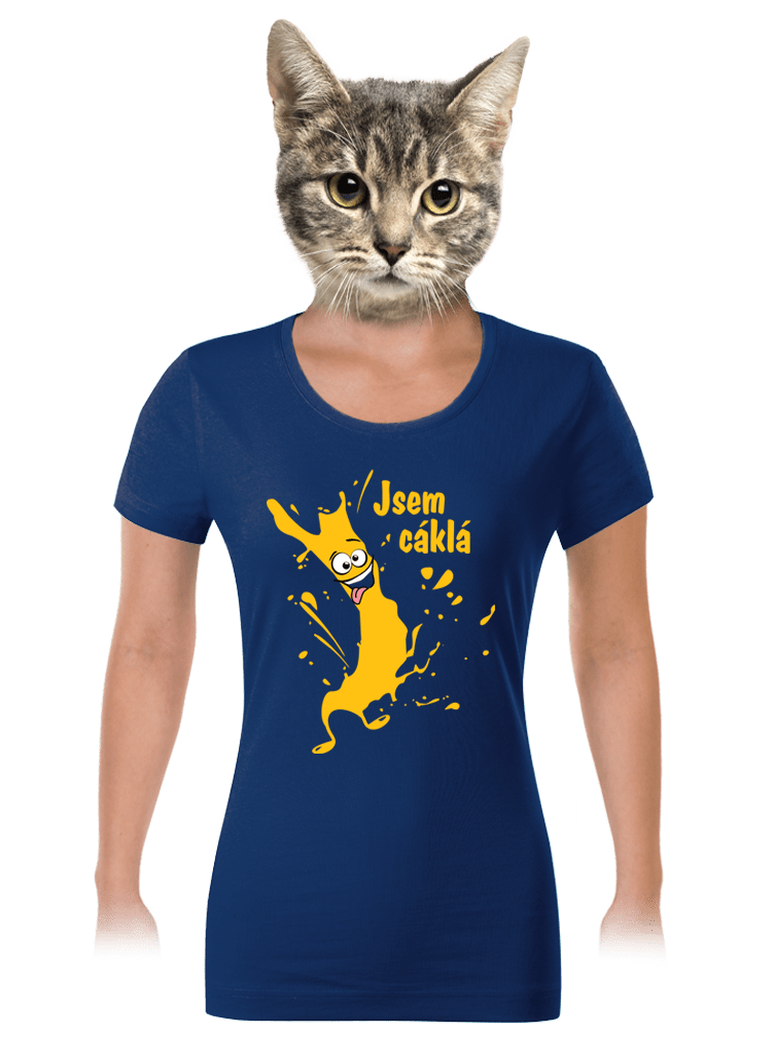 Cáklá modré dámské tričko