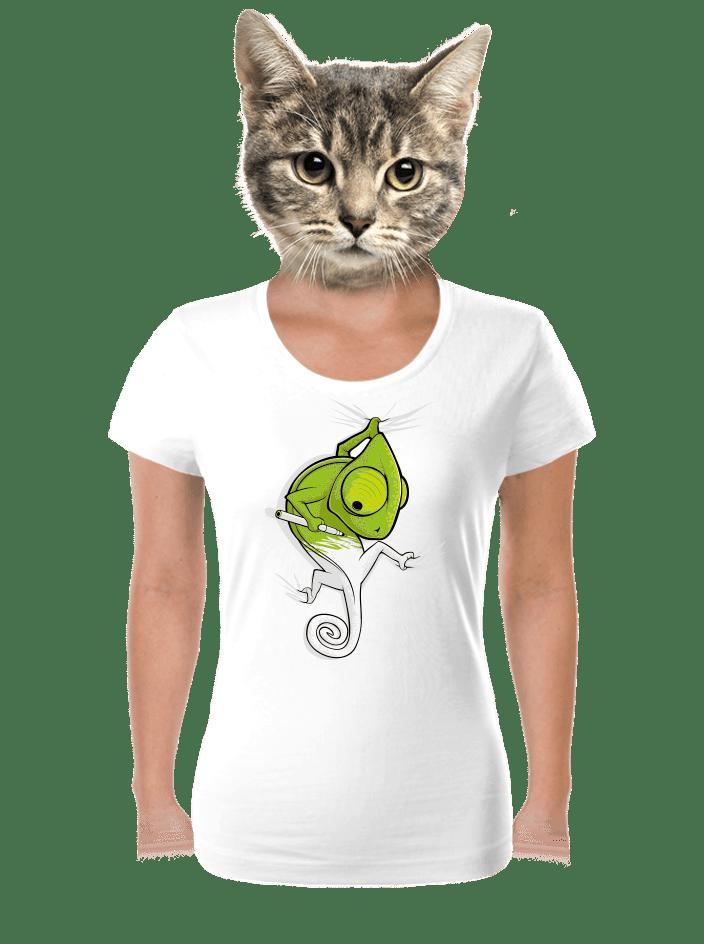 Zmizík bílé dámské tričko
