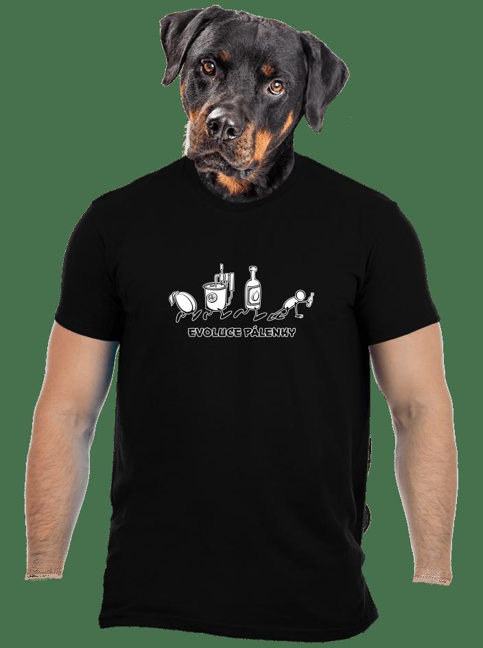 Evoluce pálenky pánské tričko