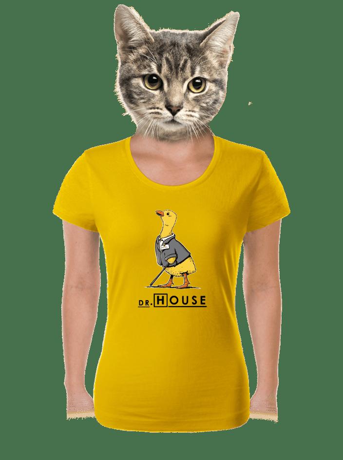 Dr. House žluté dámské tričko
