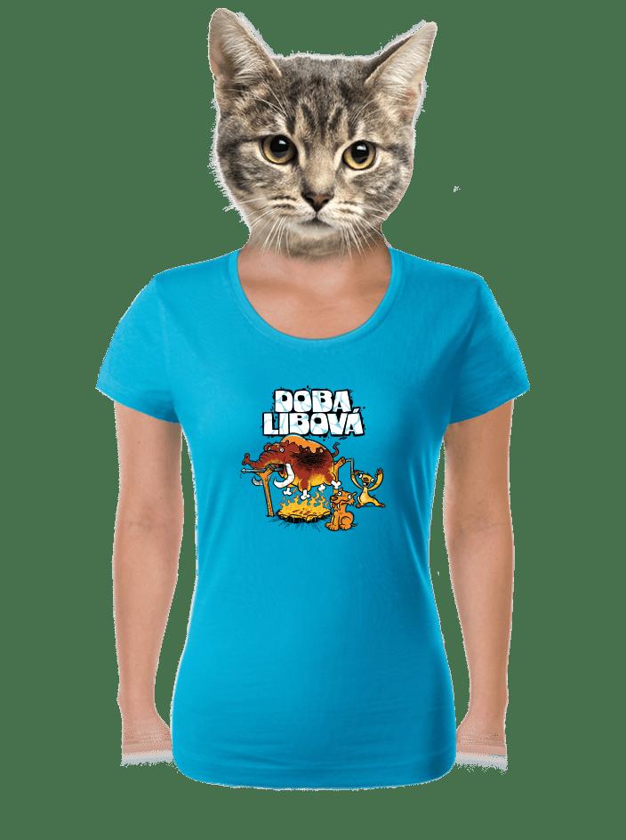 Doba libová modré dámské tričko