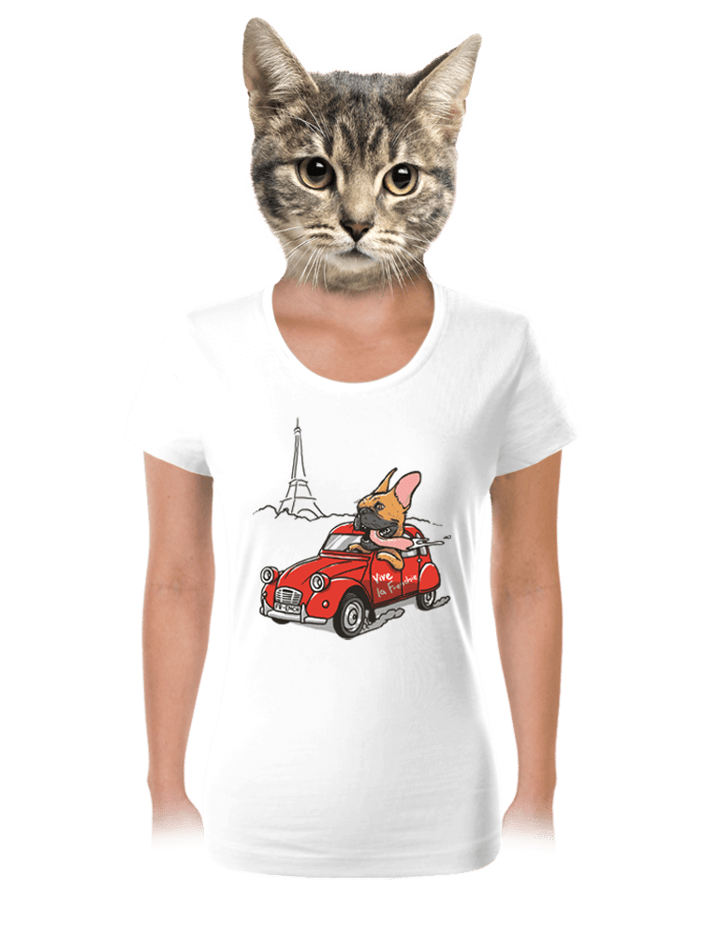 Francouzský buldoček dámské tričko