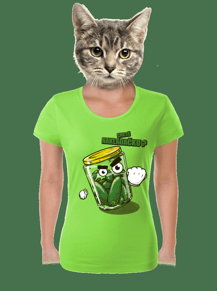 Nakládačka zelené dámské tričko