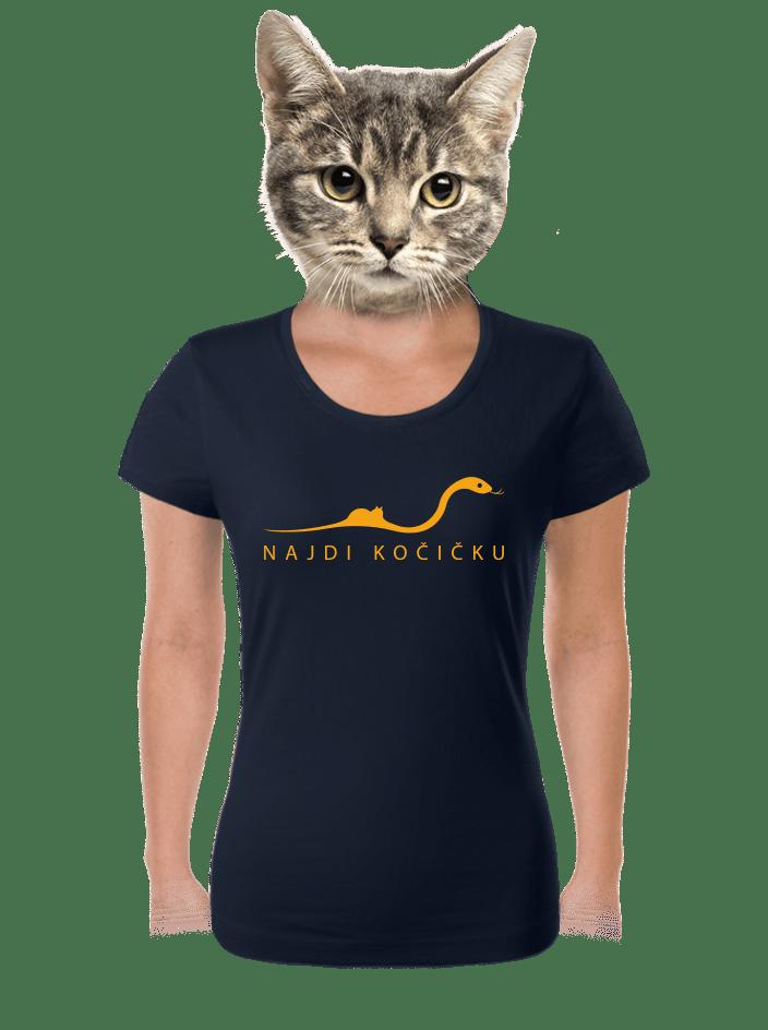 Najdi kočičku dámské tričko