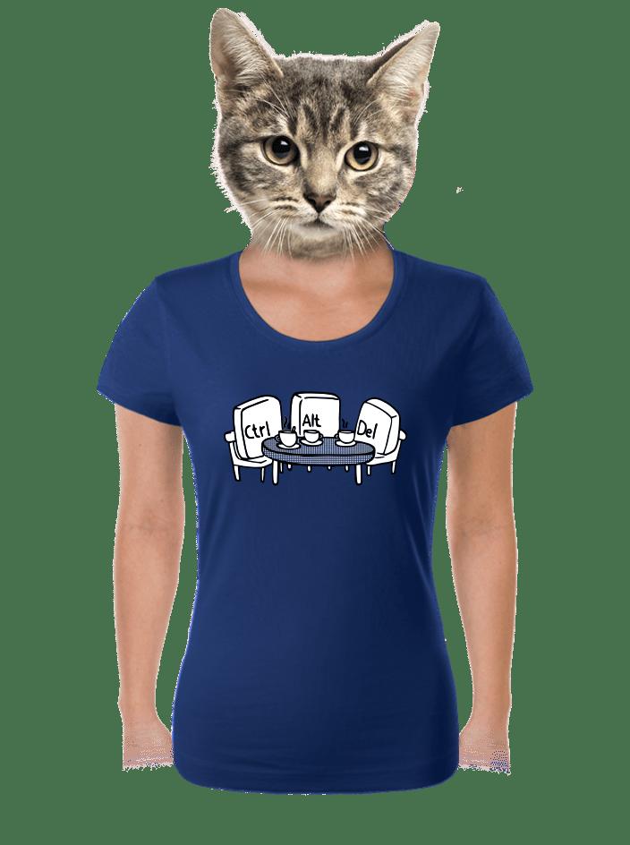 Nerozluční kamarádi modré dámské tričko