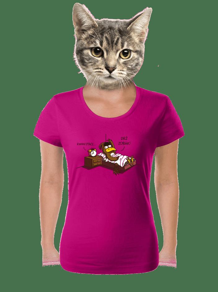 Ranní ptáče dámské tričko