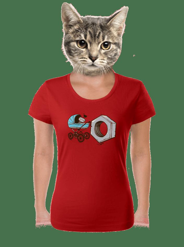 Správná matka červené dámské tričko