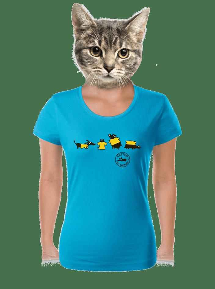 Testováno na zvířatech dámské tričko