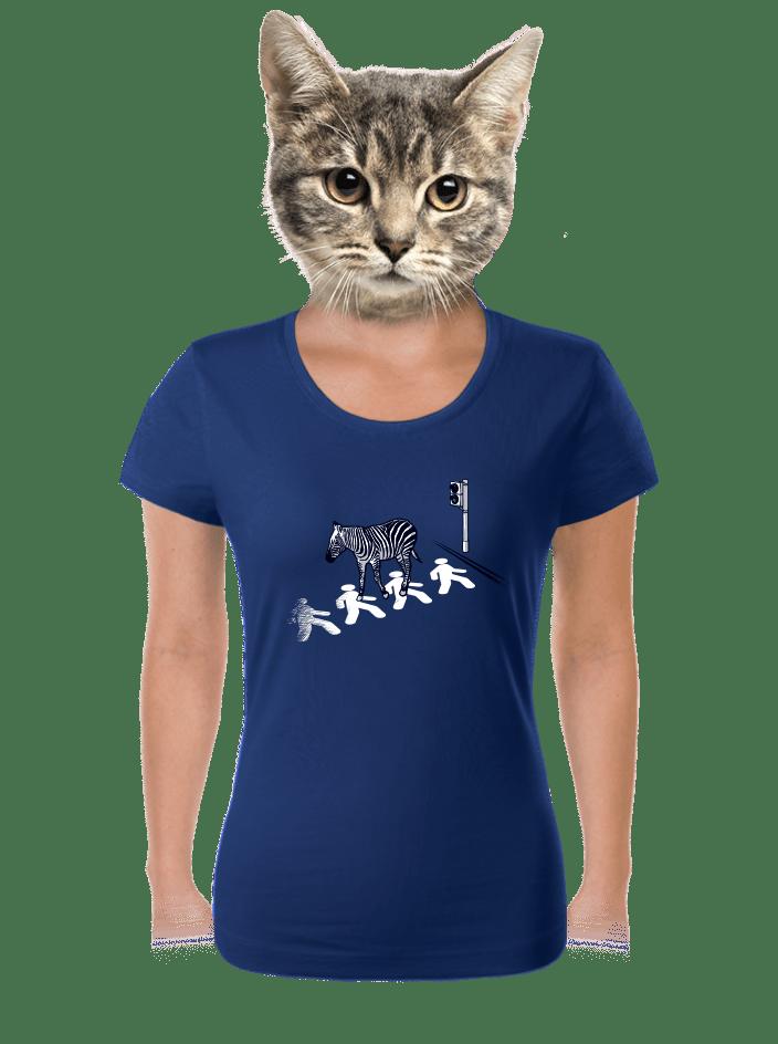 Zebra dámské tričko