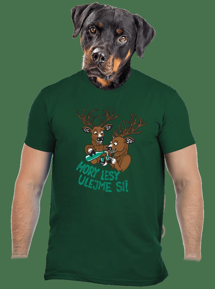 Hory lesy ulejme si pánské tričko