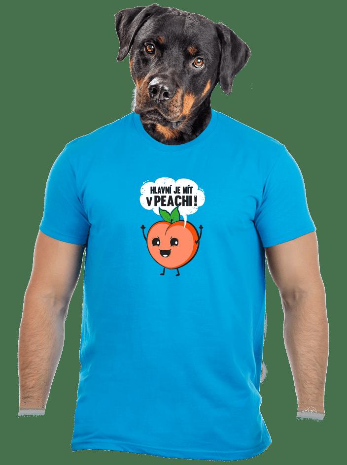 V peachi pánské tričko