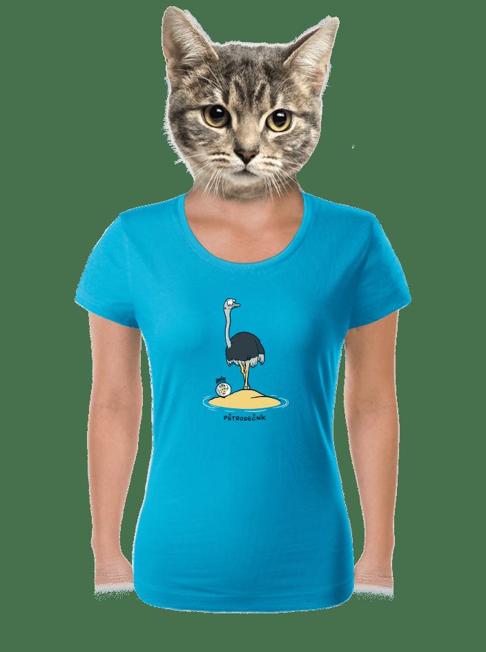 Pštrosečník dámské tričko