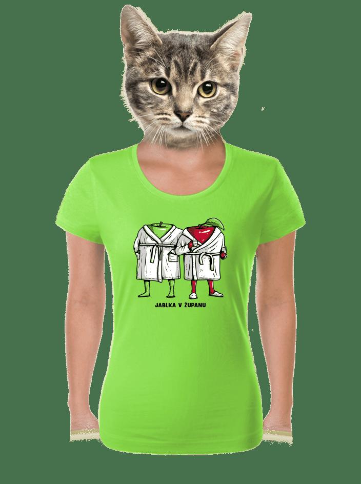 Jablka v županu dámské tričko