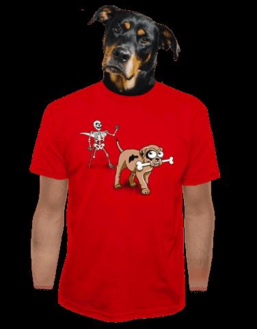 Kostlivec červené pánské tričko