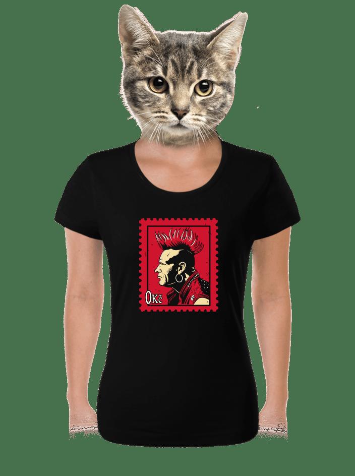 Známka punku dámské tričko