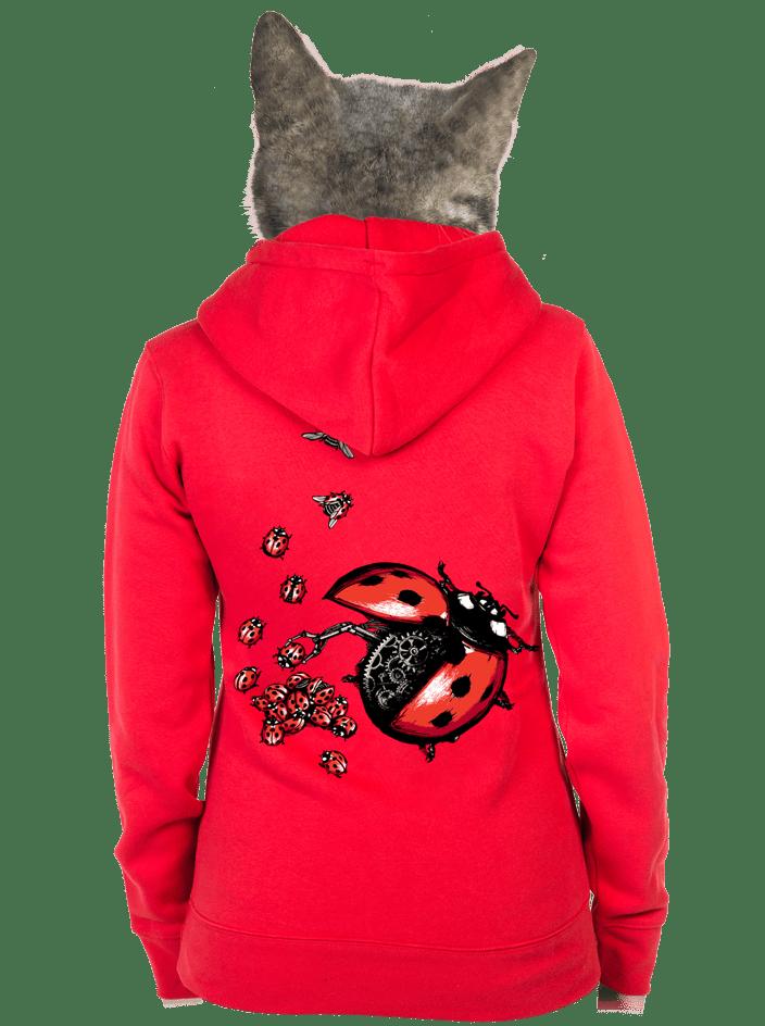 Ladybird červená dámská mikina