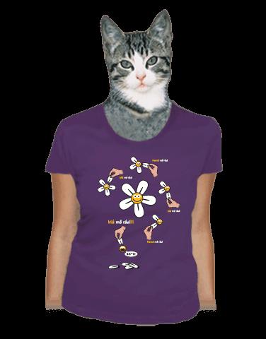 Má mě rád fialové dámské tričko