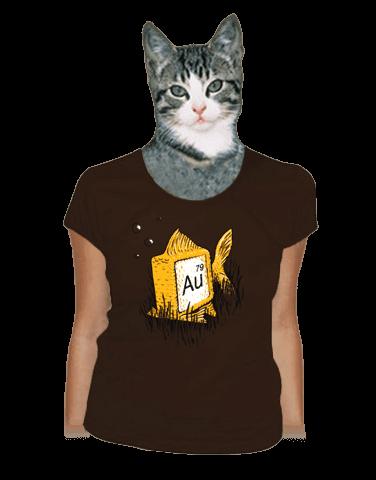 Zlatá rybka dámské tričko