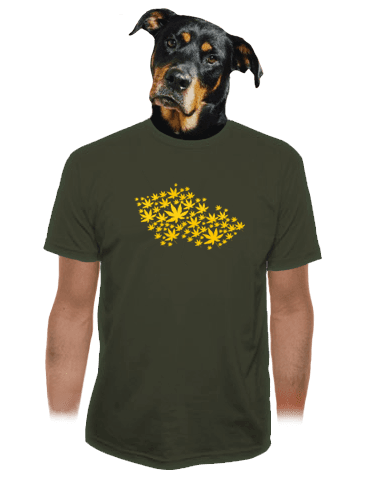 Ganja country khaki tričko