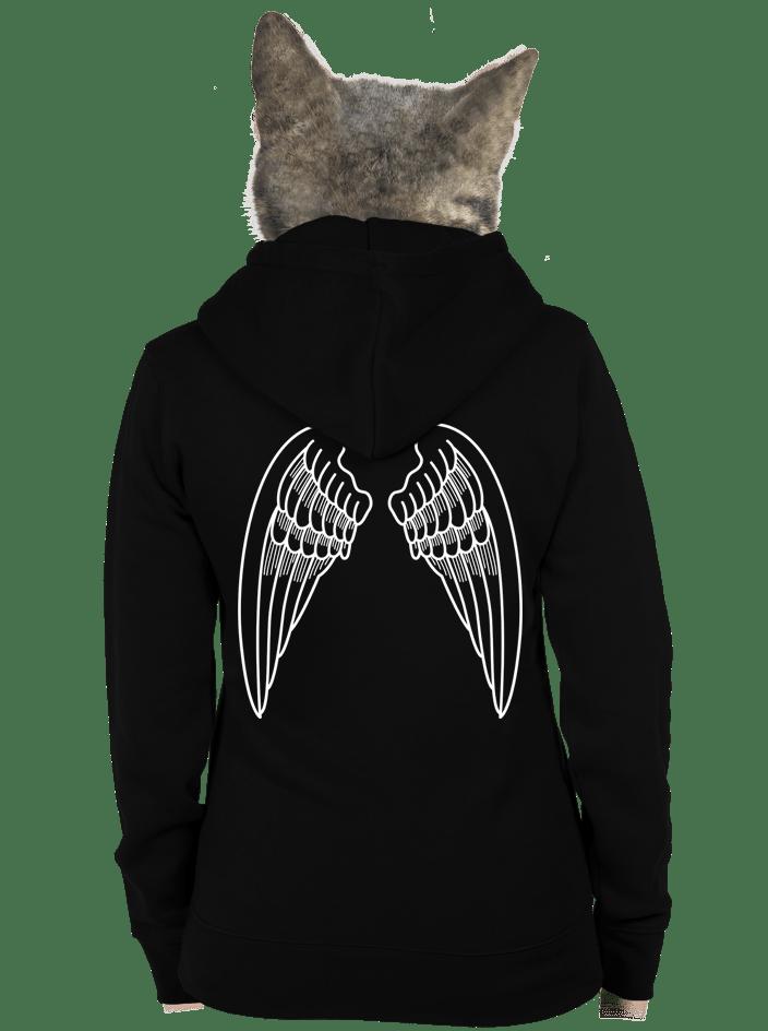 Křídla dámská mikina – záda
