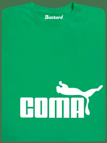 Bastard Coma zelené pánské tričko
