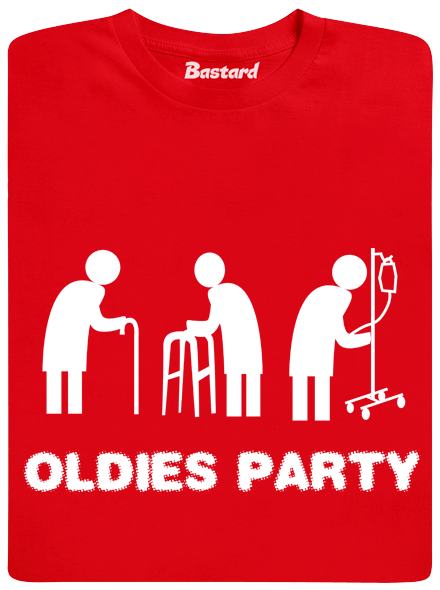 Bastard Oldies party červené pánské tričko
