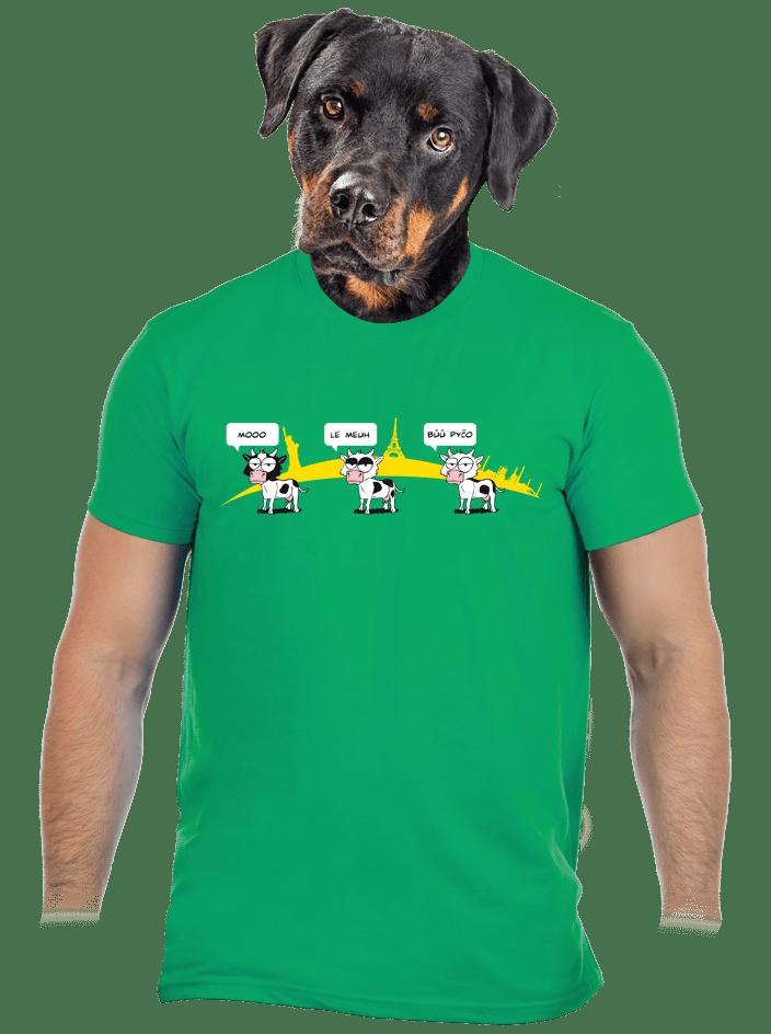 Ostravačka zelené pánské tričko