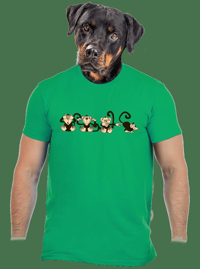 Opice zelené pánské tričko