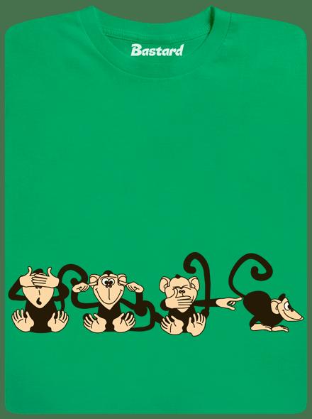 Bastard Opice zelené pánské tričko