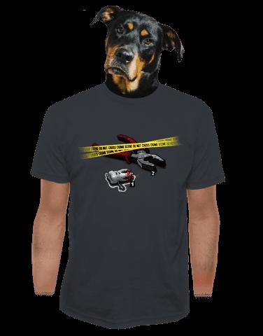 Zoubkovražda šedé pánské tričko