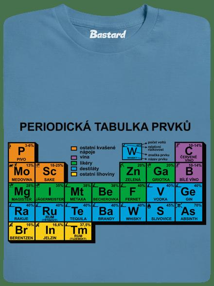 Bastard Periodická tabulka modré pánské tričko