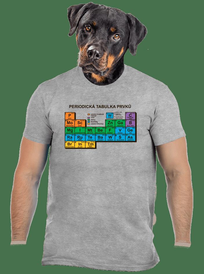 Periodická tabulka šedé pánské tričko