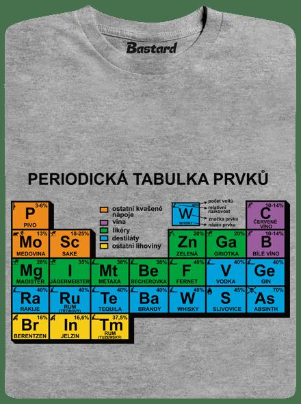 Bastard Periodická tabulka šedé pánské tričko