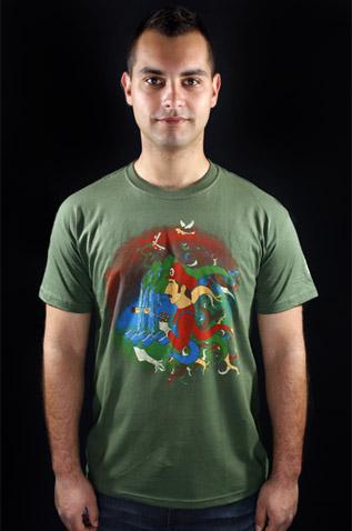 Mario's Trip zelené pánské tričko
