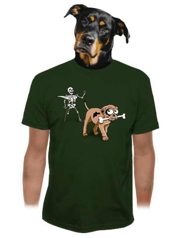 Kostlivec zelené pánské tričko