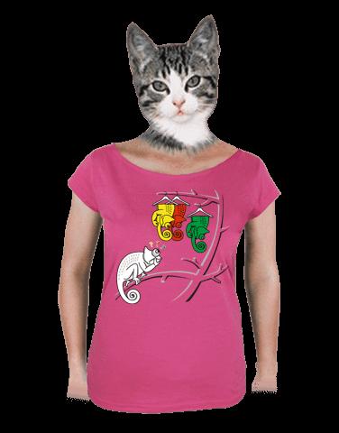 Těžká volba fuchsiové dámské tričko