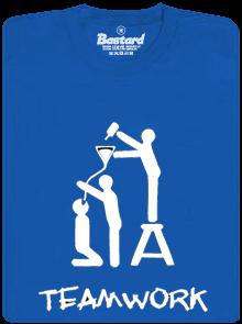 Bastard TeamWork modré pánské tričko
