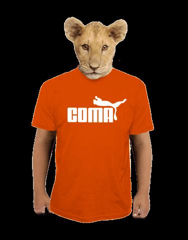 Coma oranžové dětské tričko