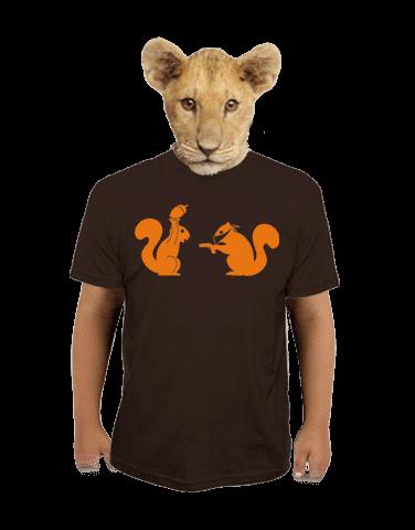 Veverky hnědé dětské tričko