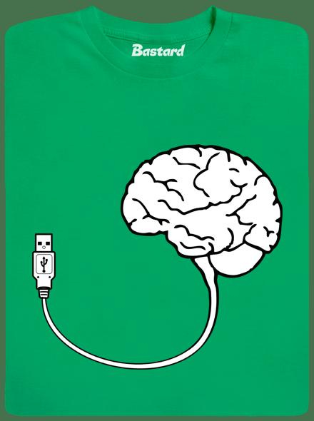 Bastard USB mozek zelené pánské tričko - nový střih