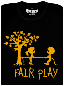 Bastard Fair play černé dětské tričko