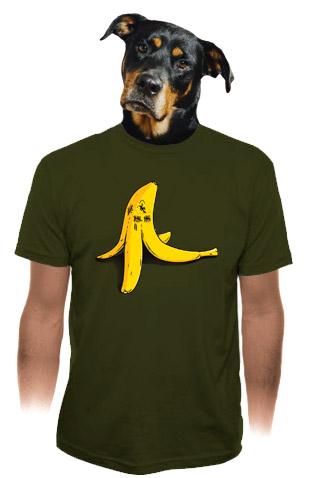 Banán zabiják khaki pánské tričko