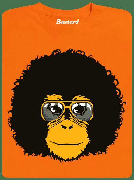 Bastard Retro opičák oranžové pánské tričko